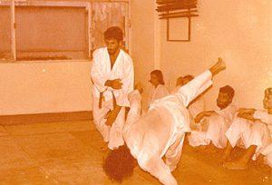 Exame de graduação - Antigo Dojo Shikanai - Niterói, década de 70