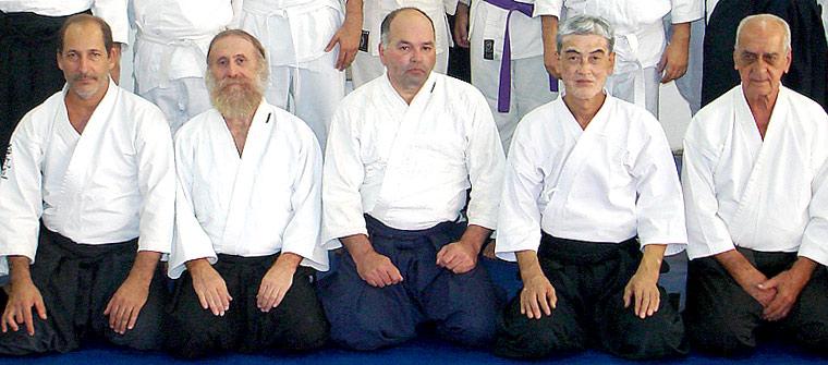 Da esquerda para direita: Alberto Ferreira, José Ortega, Bento Guimarães, Shihan Ichitami Shikanai, Pedro Paulo.